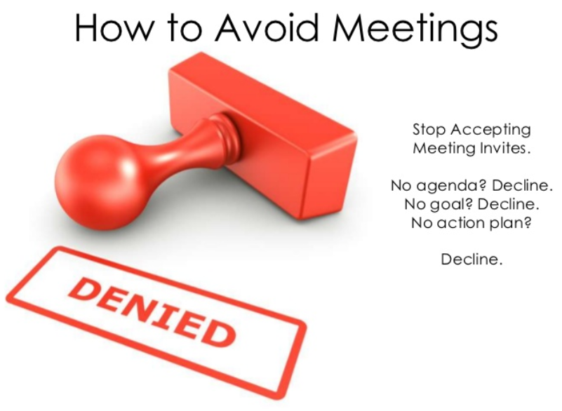 how to avoid meetings